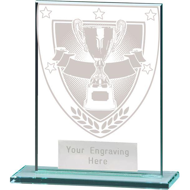 "Millennium Achievement Jade Glass Award 11cm (4.75"")"