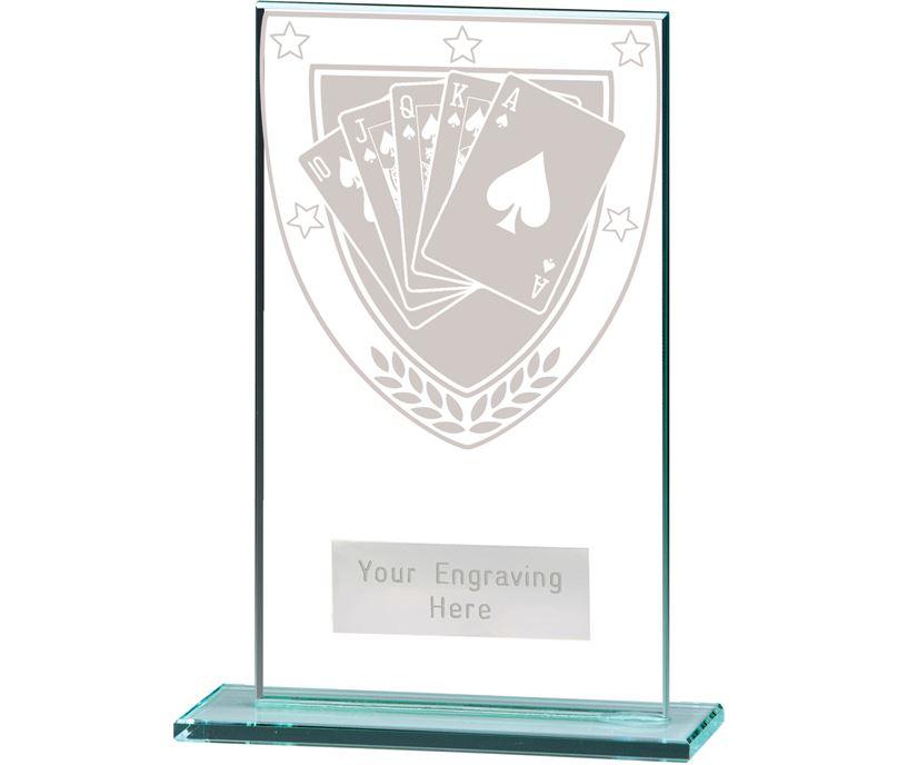 """Millennium Poker Jade Glass Award 14cm (5.5"""")"""