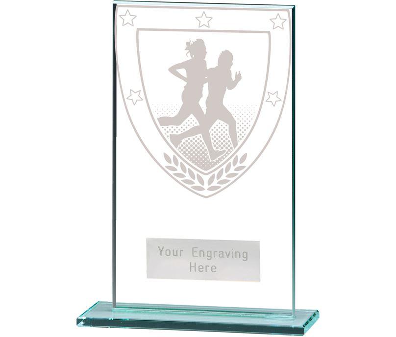 "Millennium Running Jade Glass Award 14cm (5.5"")"