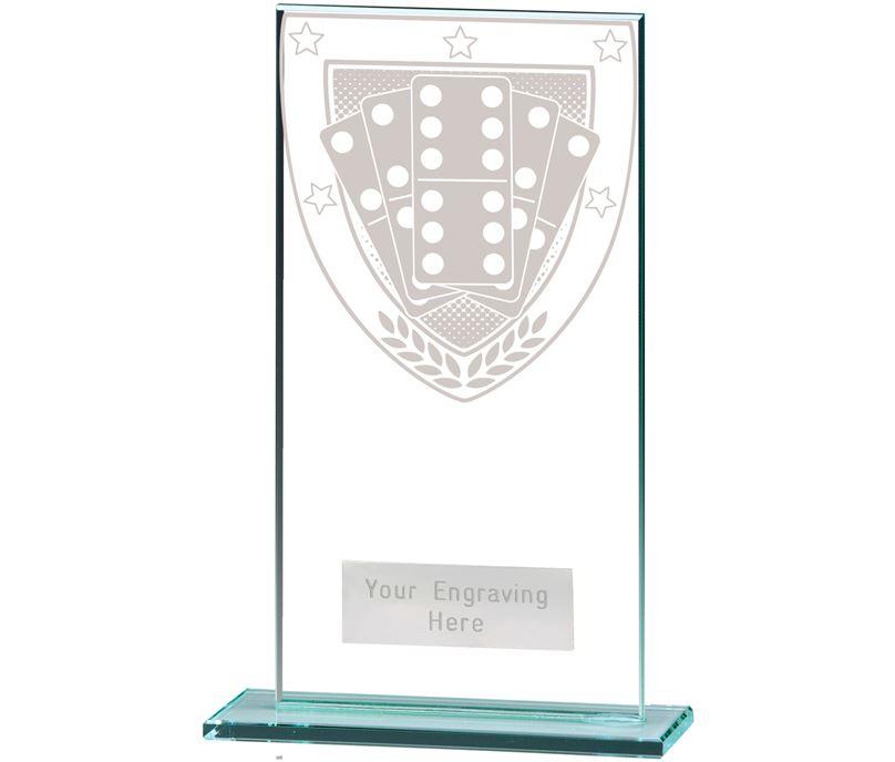 "Millennium Dominoes Jade Glass Award 16cm (6.25"")"