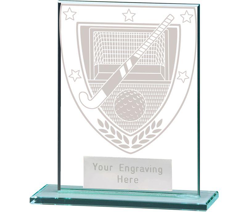 "Millennium Hockey Jade Glass Award 11cm (4.75"")"