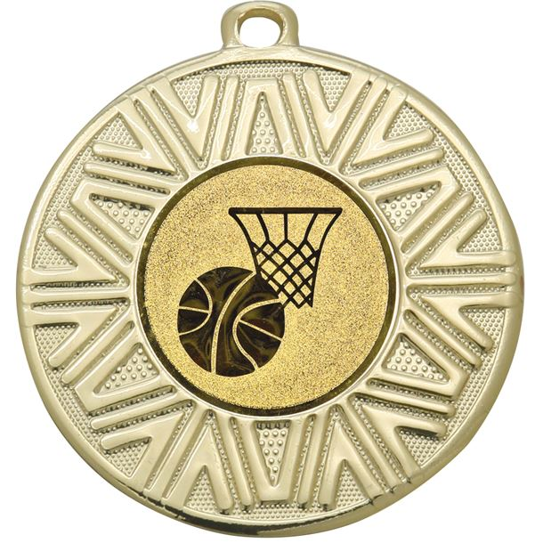 "Basketball Achievement Medal Gold 50mm (2"")"
