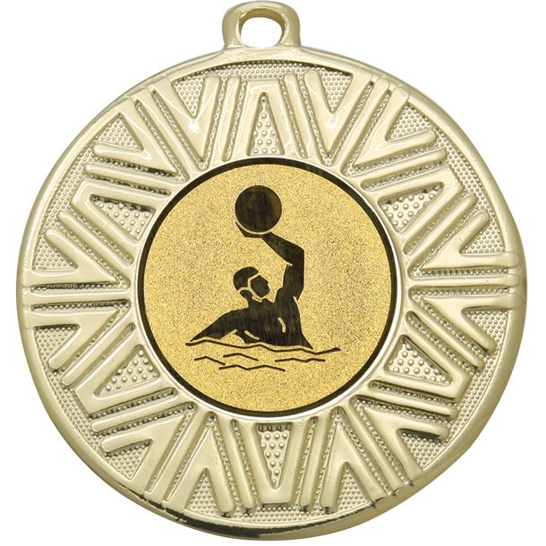 """Water Polo Achievement Medal Gold 50mm (2"""")"""