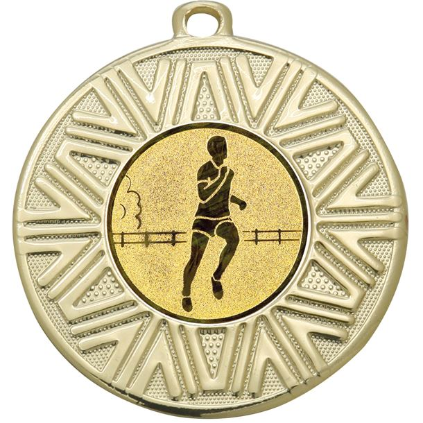 "Running Achievement Medal Gold 50mm (2"")"