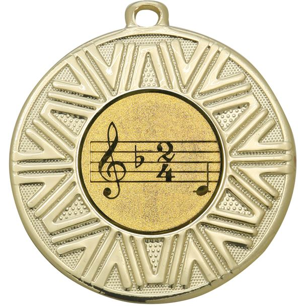 "Music Achievement Medal Gold 50mm (2"")"
