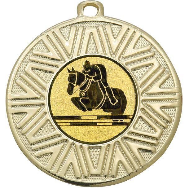 "Equestrian Achievement Medal Gold 50mm (2"")"