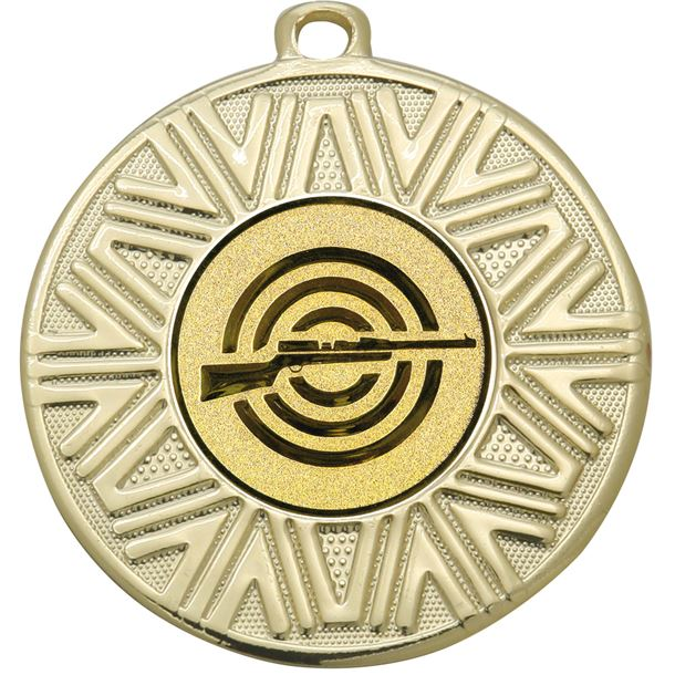 """Shooting Achievement Medal Gold 50mm (2"""")"""