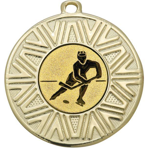 "Ice Hockey Achievement Medal Gold 50mm (2"")"