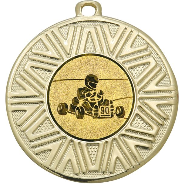 "Karting Achievement Medal Gold 50mm (2"")"