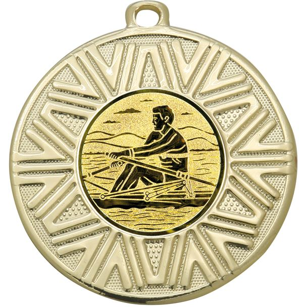 """Rowing Achievement Medal Gold 50mm (2"""")"""