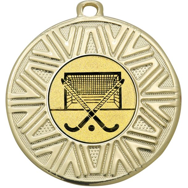 "Hockey Achievement Medal Gold 50mm (2"")"