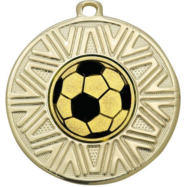 """Football Achievement Medal Gold 50mm (2"""")"""