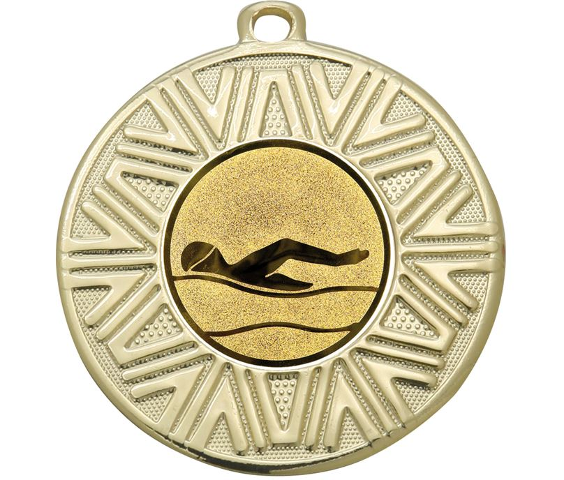 """Swimming Achievement Medal Gold 50mm (2"""")"""