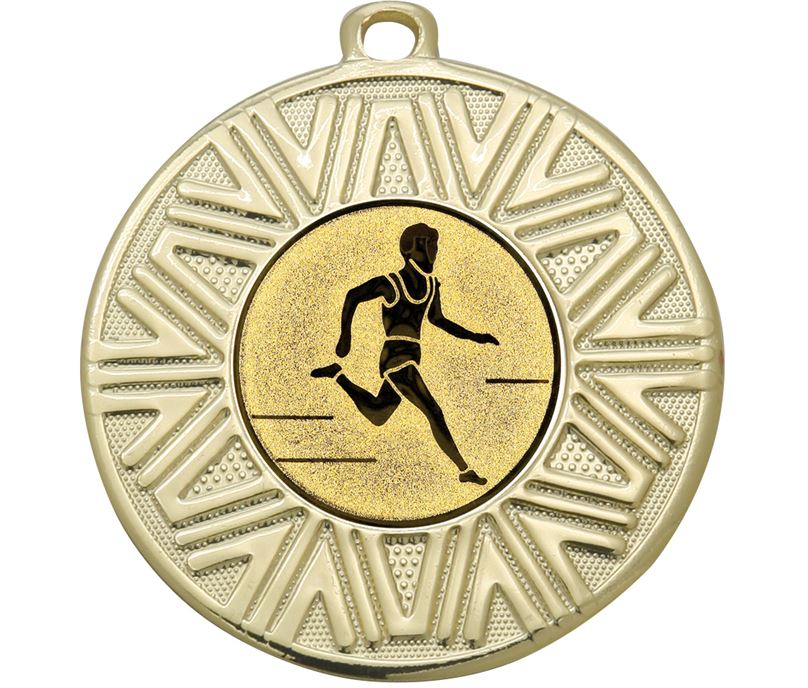 """Cross Country Achievement Medal Gold 50mm (2"""")"""