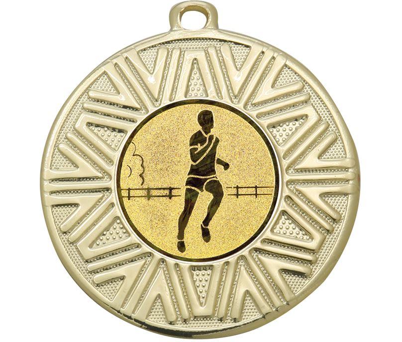 """Running Achievement Medal Gold 50mm (2"""")"""