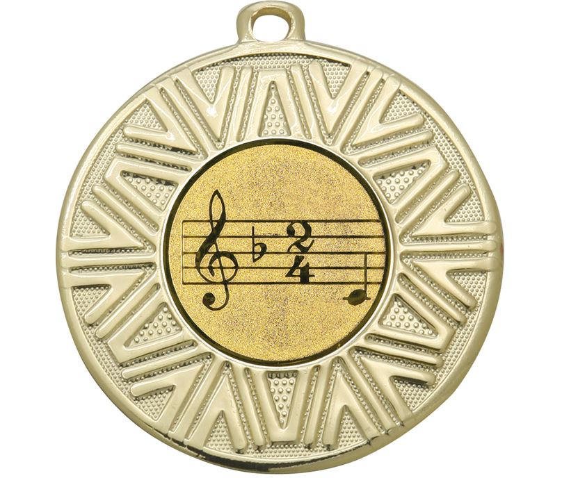 "Music Achievement Medal Gold 50mm (2"")"