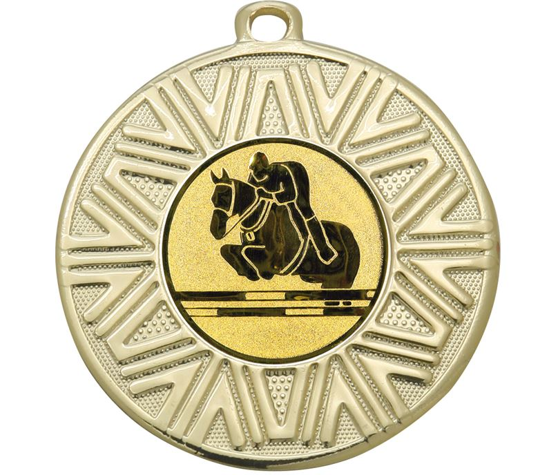 "Equestrian Achievement Medal Gold 50mm (2"")"