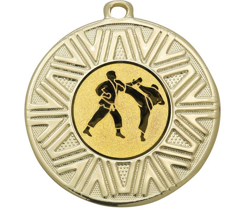 "Karate Achievement Medal Gold 50mm (2"")"