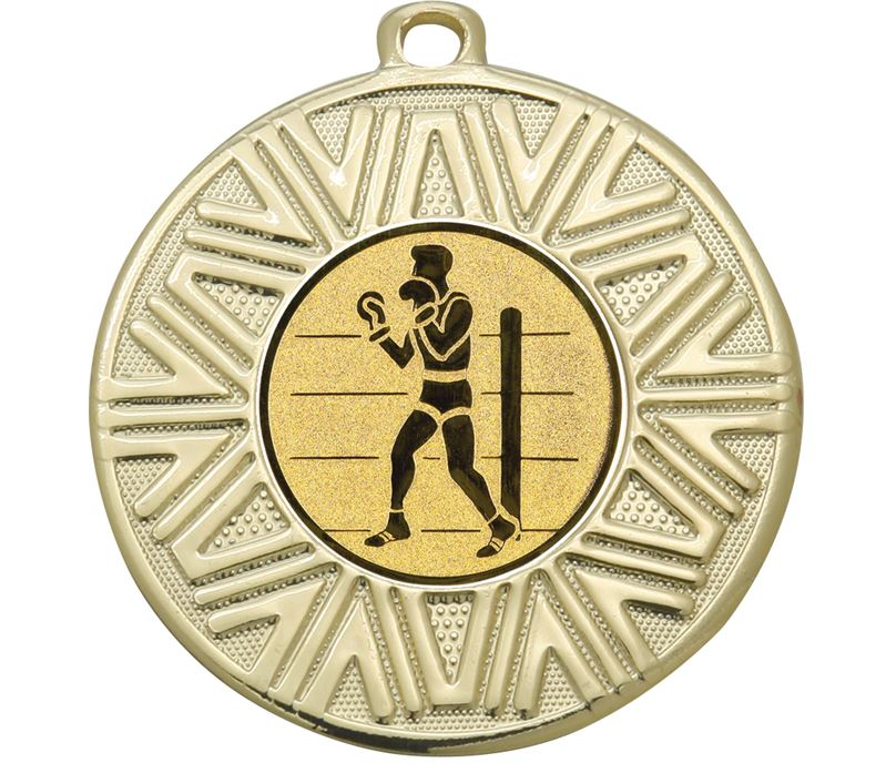 """Boxing Achievement Medal Gold 50mm (2"""")"""
