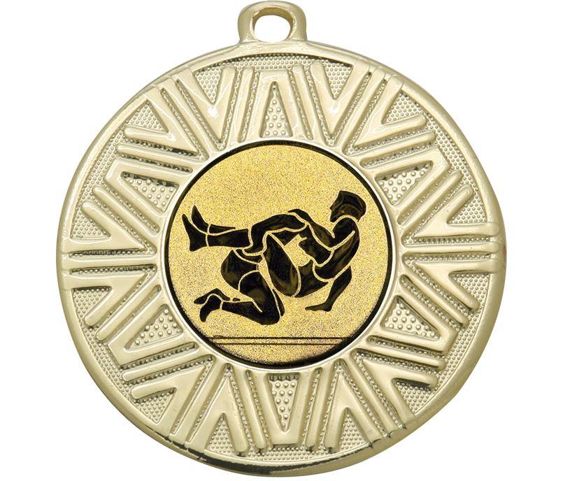 "Wrestling Achievement Medal Gold 50mm (2"")"