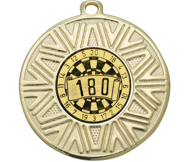 """Dart Board Achievement Medal Gold 50mm (2"""")"""