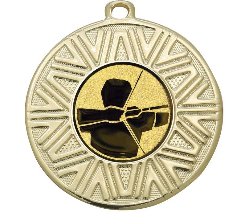 """Archery Achievement Medal Gold 50mm (2"""")"""