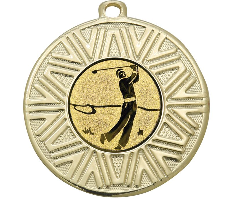 "Golf Achievement Medal Gold 50mm (2"")"