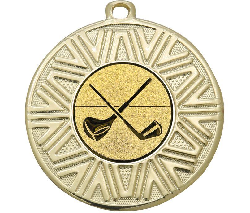 """Golf Clubs Achievement Medal Gold 50mm (2"""")"""