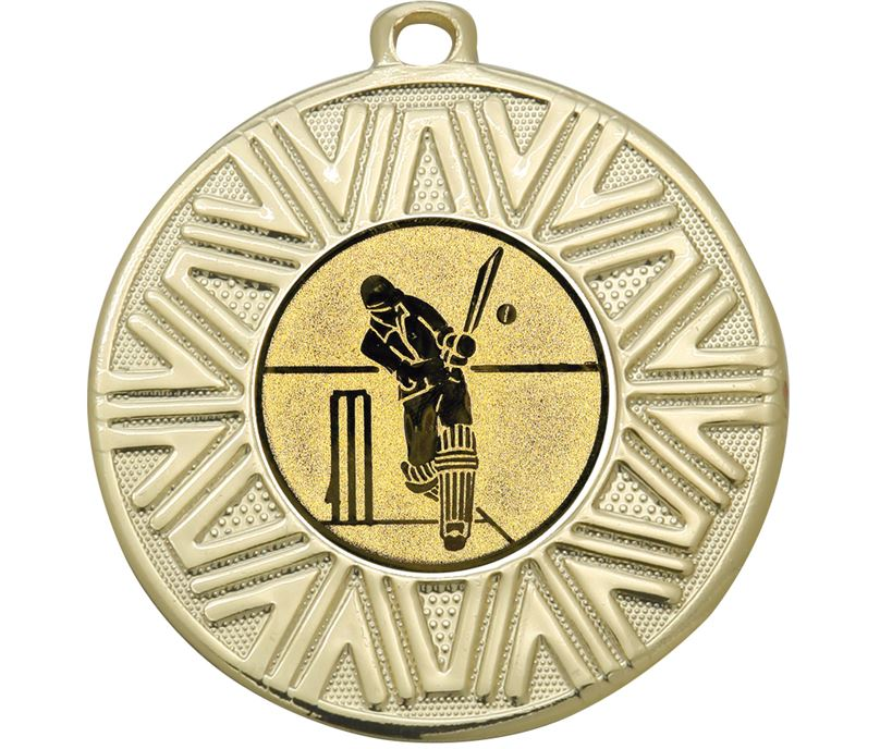 "Cricket Achievement Medal Gold 50mm (2"")"