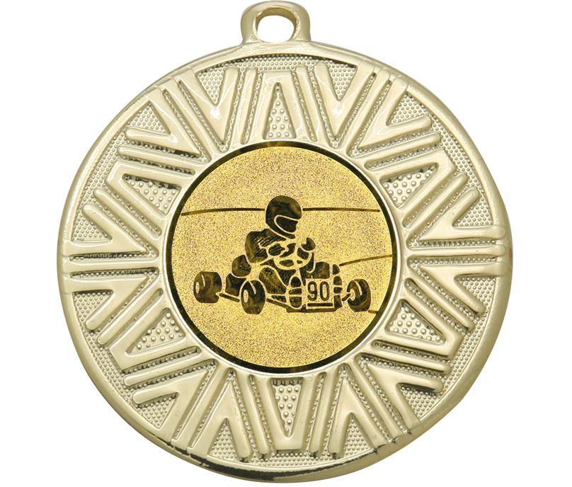 "Karting Achievement Medal Gold 50mm (2"")"