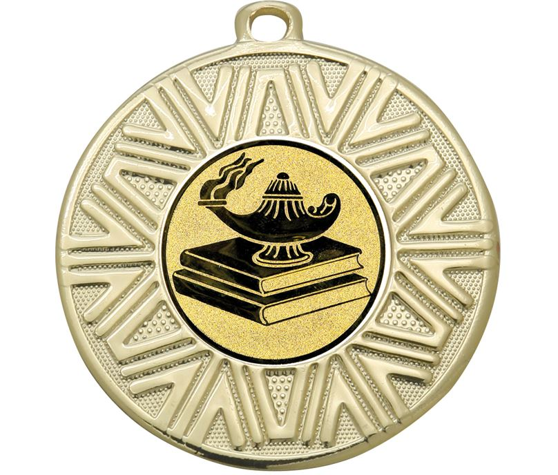 "Quiz Knowledge Achievement Medal Gold 50mm (2"")"