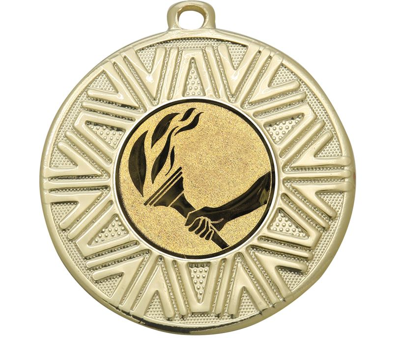 "Flame Achievement Medal Gold 50mm (2"")"