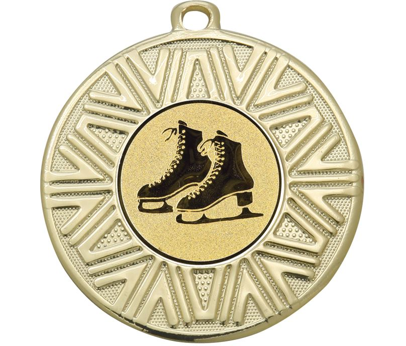 """Ice Skating Achievement Medal Gold 50mm (2"""")"""