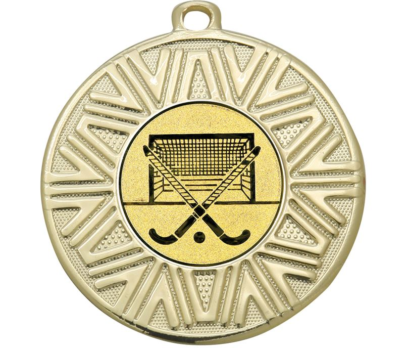 "Hockey Achievement Medal Gold 50mm (2"")"