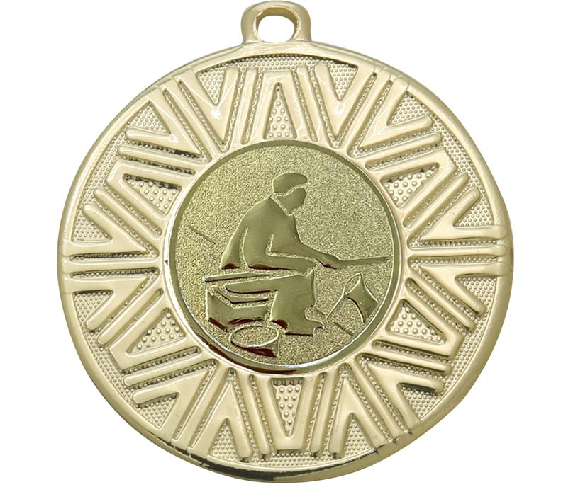 "Fishing Achievement Medal Gold 50mm (2"")"