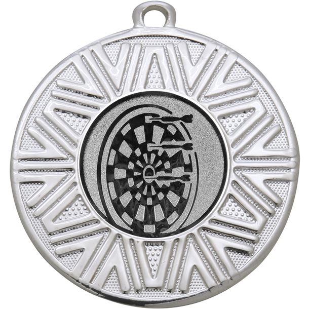 "Darts Achievement Medal Silver 50mm (2"")"