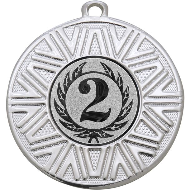"""2nd Place Achievement Medal Silver 50mm (2"""")"""