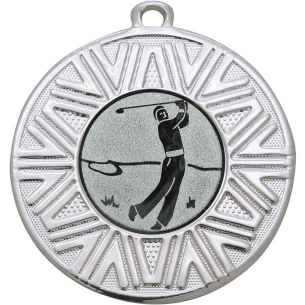 "Golf Achievement Medal Silver 50mm (2"")"