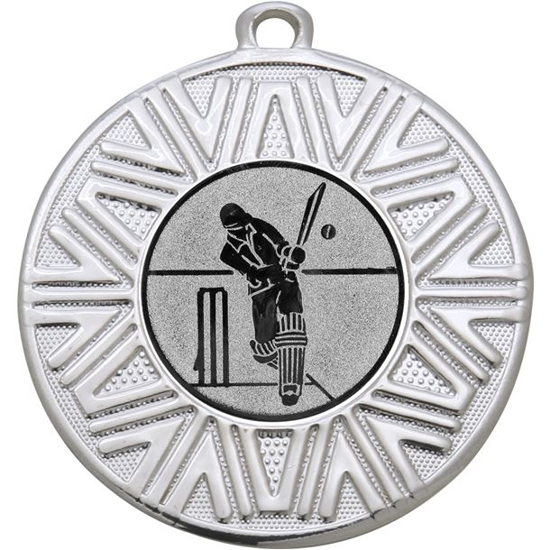 "Cricket Achievement Medal Silver 50mm (2"")"