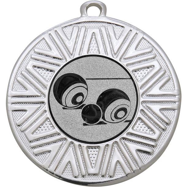 """Lawn Bowls Achievement Medal Silver 50mm (2"""")"""