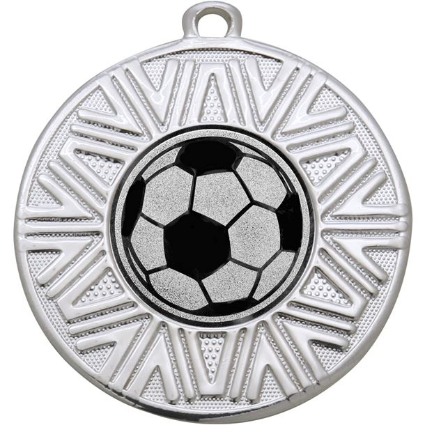 "Football Achievement Medal Silver 50mm (2"")"