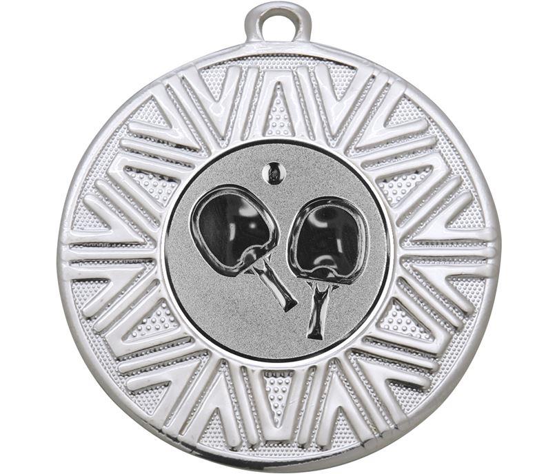"Table Tennis Achievement Medal Silver 50mm (2"")"