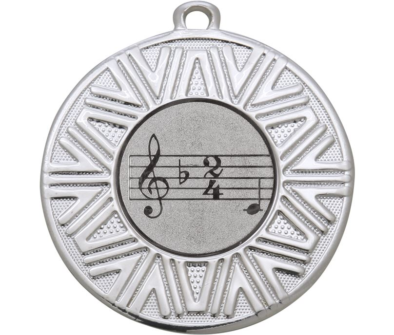 "Music Achievement Medal Silver 50mm (2"")"