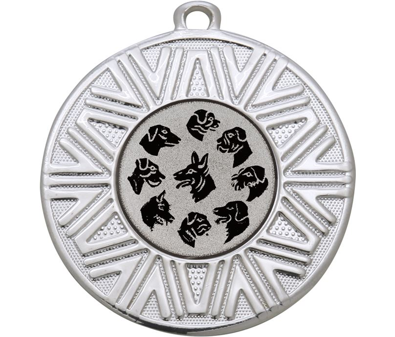 """Dogs Achievement Medal Silver 50mm (2"""")"""