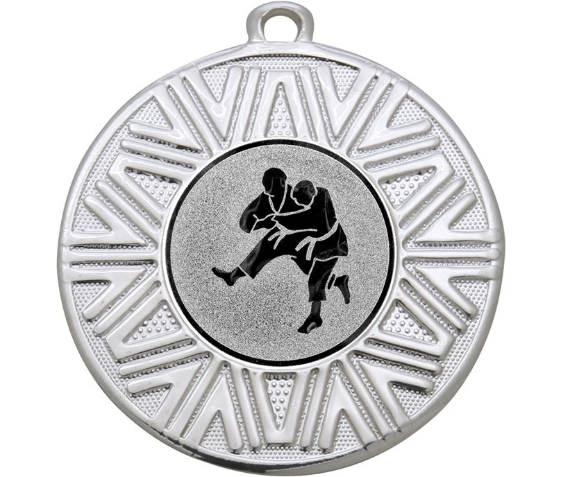 "Judo Achievement Medal Silver 50mm (2"")"