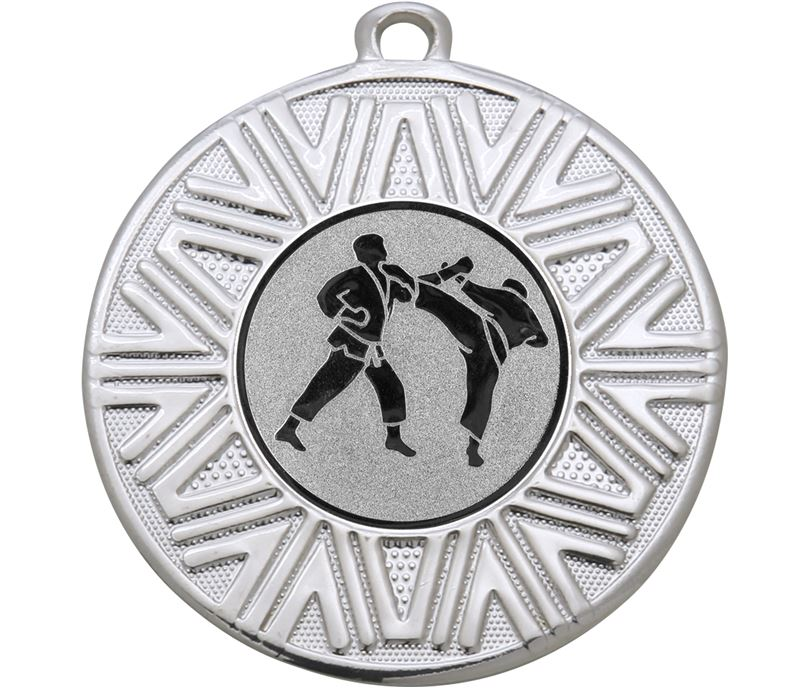 "Karate Achievement Medal Silver 50mm (2"")"