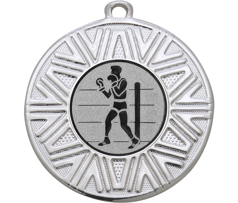 """Boxing Achievement Medal Silver 50mm (2"""")"""