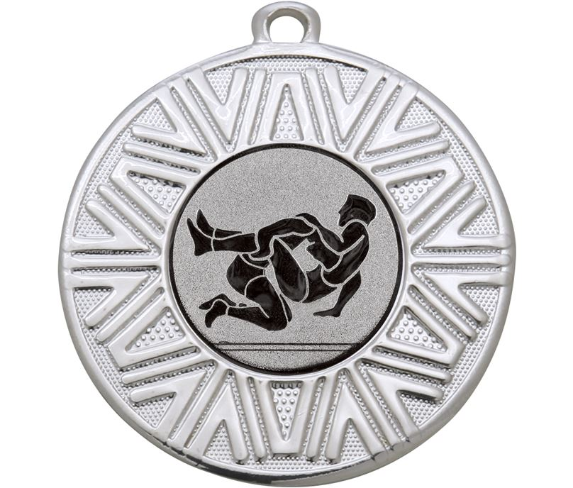 "Wrestling Achievement Medal Silver 50mm (2"")"