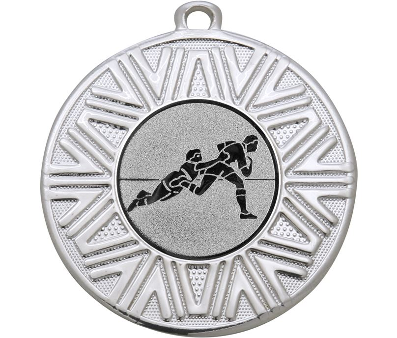"Rugby Achievement Medal Silver 50mm (2"")"
