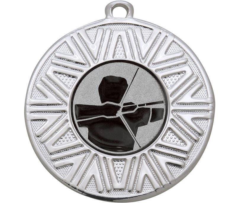 "Archery Achievement Medal Silver 50mm (2"")"